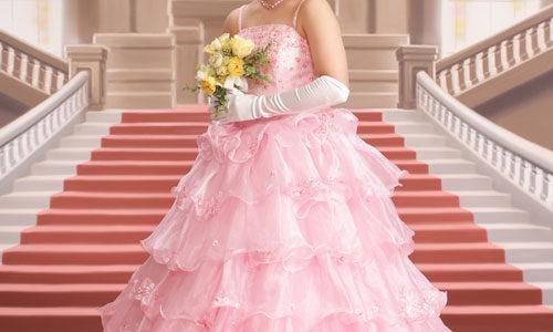 可愛いドレス姿のお嬢様♪